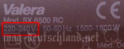 電圧の確認方法