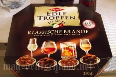 アルコール入りチョコレート「Trumpf Edle Tropfen in Nuss」
