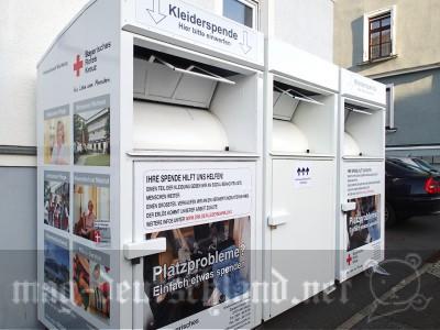 服や靴を捨てられる(リサイクル寄付できる)ドイツのコンテナー「Kleidercontainer」