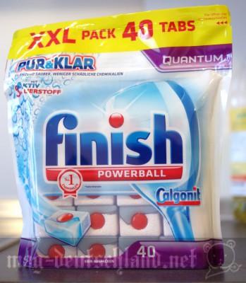 食洗機用のタブレット洗剤「Finisch」のQuantum