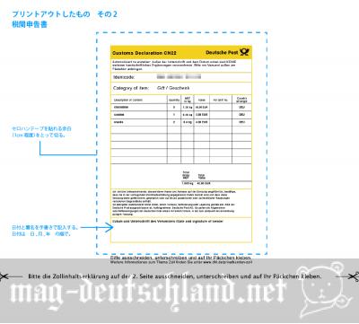 DHLオンライン伝票(税関申告書)